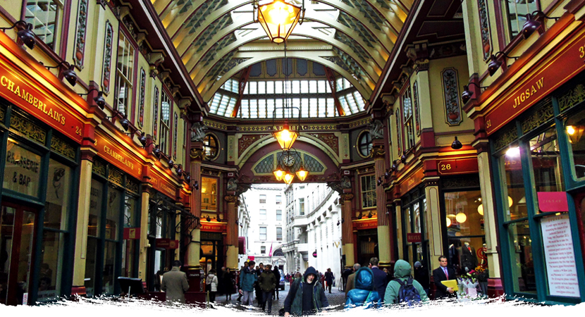 Londres LeadenHall Market Jars Old Tom